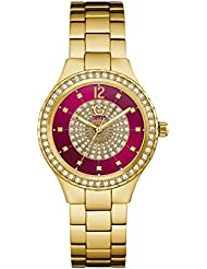 G by GUESS Womens Gold-Tone and Pink Watch