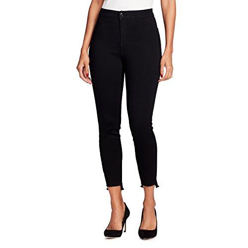 Black Rinse - Black Daisy Women's Tube Hi-Rise Ankle Skinny Jean, Black Rinse, 0