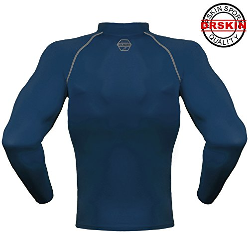 DRSKIN Compression Cool Dry Sports Tights Shirt Baselayer Running Leggings Yoga Rashguard Men (SN021, M)