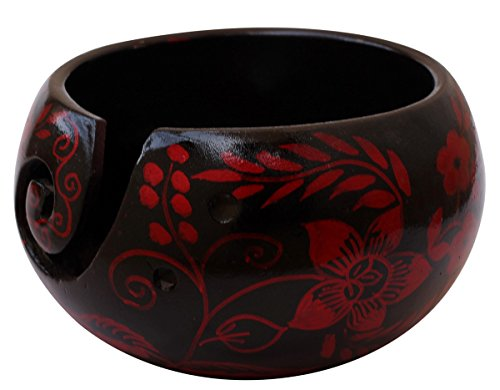 Thanksgiving Christmas Day Best Gifts - Ceramic Yarn Bowl for Knitting, Crochet for Moms - Beautiful Gift on All Occasions. A Perfect Gift for Moms and Grandmothers (Big Yarn_22)