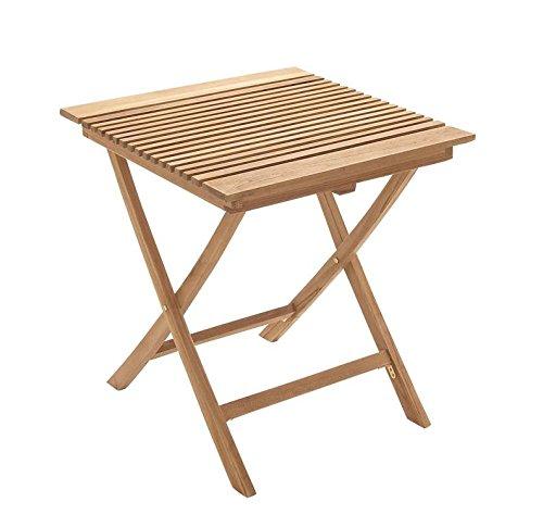 "Deco 79 92450 Wood Teak Folding Table, 28"" x 30"""