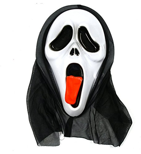 micrkrowen Halloween Party Cosplay mask spit Tongue Screech Terror Kamen]()