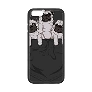 pocket pug iPhone 6 4.7 Inch Cell Phone Case Black Exquisite gift (SA_634185)