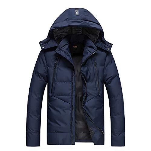 Uomini Parka Addensare Solido lungo Cappotto Md Outwear Cappuccio 1 Xinheo Moda dCxtqd