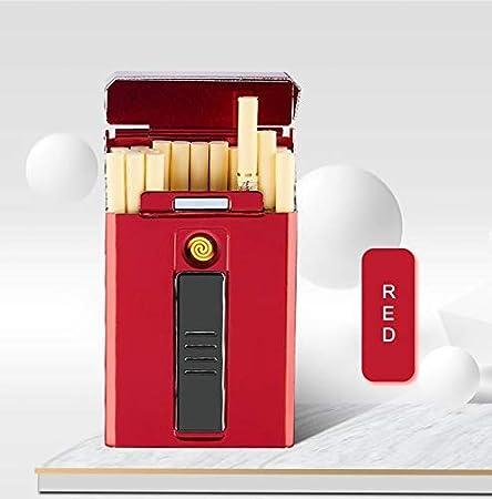 NAMENLOSE 20pcs Estuche de Cigarrillos con Encendedor para Hombres ...
