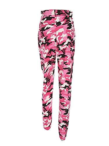 Camouflage Sport Femmes Camo de Pantalons Jeans Mode Beikoard Vif Cargo Pantalons Vetement Rose Outdoor Occasionnels Jeans Jogging FRAwPtq