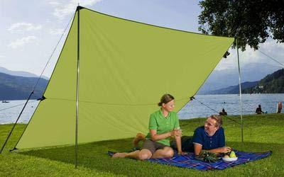 Berger Tarp grün, in verschiedenen Größen, Sonnenschutz für Garten Terasse Camping und Strand