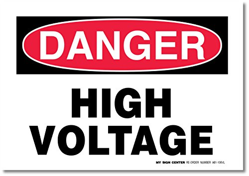 Danger High Voltage Decal Sign