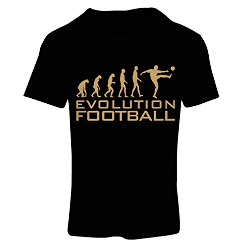 fan products of N4466F T Shirts For Women The Evolution Football (X-Large Black Gold)