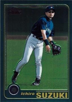 2001 Topps Chrome Traded Baseball #T266 Ichiro Suzuki Rookie Card at