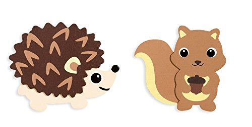 (Darice Natural Wood Painted Woodland Creatures Cutouts - Porcupine and Squirrel)