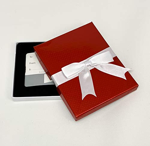Gift Card Holder - Gift Card Box, Red Dotted with Ribbon Box, Great for Christmas Gift Cards, Pack of 3