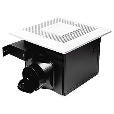 Monarchy MH-B01 Bathroom Ceiling Fan: 120 CFM Bathroom Ventilation & Exhaust Fan with LED Light |Modern Slim Design & Double Hanger Bar|Easy Installation Ultra Quiet Bath Ventilator Fans from Monarchy Range Hood