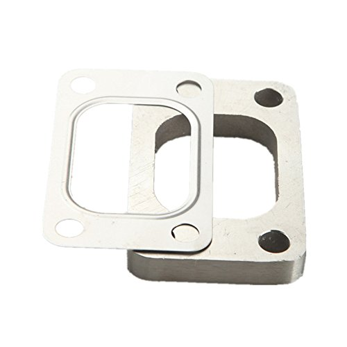 T4 Stainless Turbo Exhaust Manifold (For T3 T3/T4 T04E Undivided SS304 Turbo Manifold Charger Flange + T304 SS Gasket)
