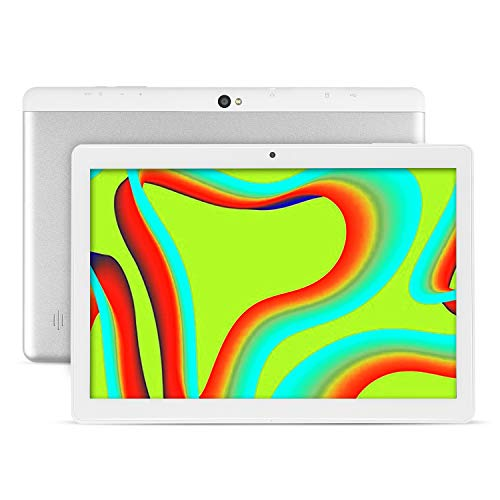 Tablet 10.1 Inch Android 9.0 Tablets with 4GB RAM+64GB ROM 2MP+ 5MP Camera, WiFi, Bluetooth, GPS, Quad Core,1280800 HD Touchscreen - 6000mAh Battery (White)