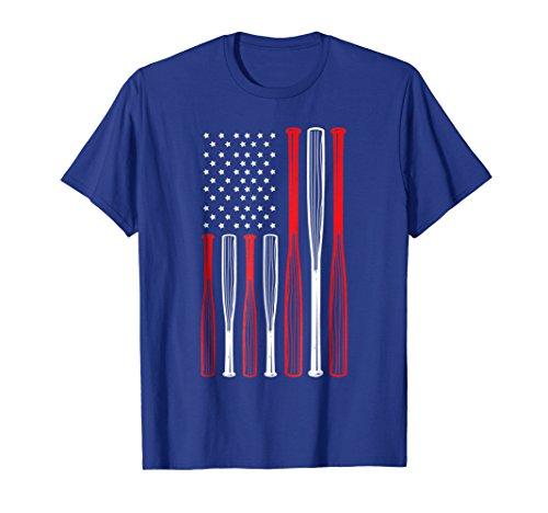 4th July Baseball Distressed USA Flag Patriotic Tshirt