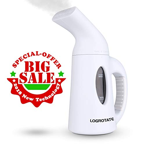 LOGROTATE Garment Steamer 120ML Mini Fabric Steamer with 45-Second Heat-up Powerful Little Portable Hand Clothes Steamer&Small Handheld Steamers for Clothes-New Design Travel Steamer for Home&Travel ()