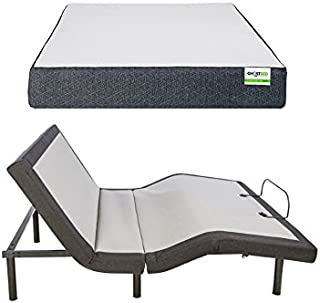 product image for GhostBed Queen Custom Adjustable Power Base with Wireless Remote and GhostBed 11 Inch-Cooling Gel Memory Foam Mattress