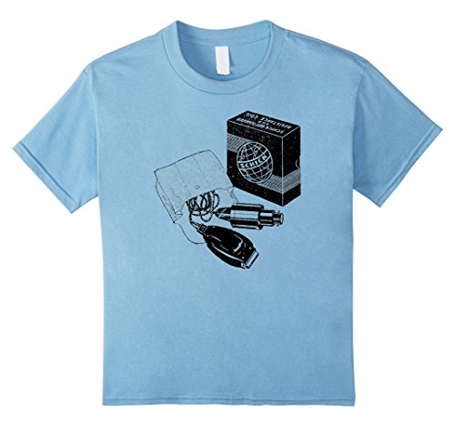 Price comparison product image Kids Mintage Early Electric Shaver T-Shirt 8 Baby Blue