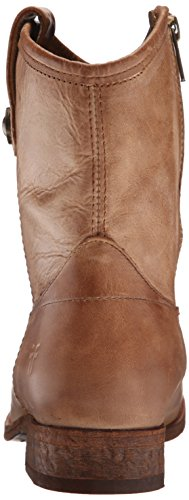 Bota corta para mujer Melissa Button, Beige lavada Antique Pull Up Leather, 6.5 M US