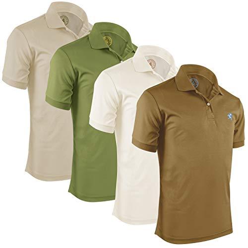 (Albert Morris Polo Shirt Men 4 Pack - Valor, XXL - Short Sleeve)