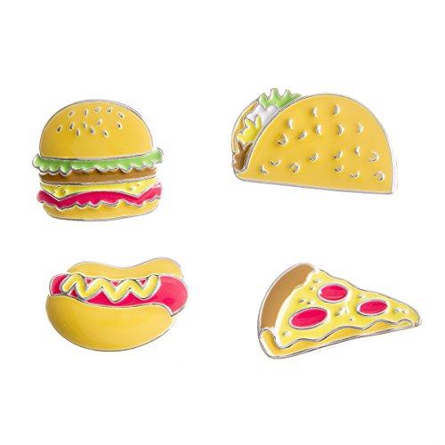 Happy Jackets 30020593 Enamel Pins Junk Food 4Pc by Happy Jackets