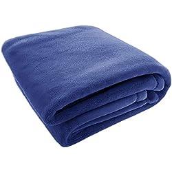 Soft Plush Fleece Toddler Baby Blanket | Boy Or Girl | Swaddle Stroller Crib | Shower Gift | (Gentle Blue)