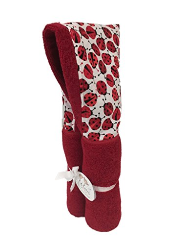 """Red Ladybug Hooded Towels ✱ Age 0-10 Years ✱ Infant, Toddler, and Big Kids ✱ Bath, Pool, Beach Towel ✱ Extra Large Size 30x54"""" ✱ Soft Plush Absorbent ✱ Handmade in USA (red Ladybugs) by Kid Kovers"""