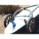The Wheele Board Walk Surfboard and SUP Trailer Hand Held Surf and Paddleboard Carrier
