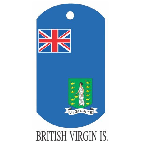 British Virgin Island Flag Dog Tags