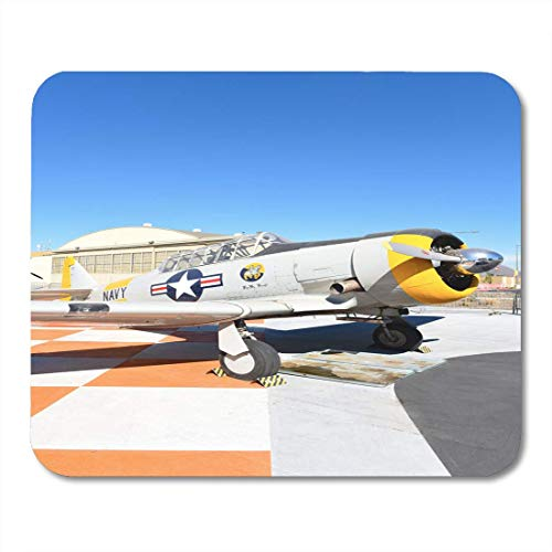 SYMSPAD Orange Irvine Ca January 31 2018 SNJ 5 Texan WWII Era Plane on Display at The Great Park in California Mouse Pad 8.6 X 7.1 in