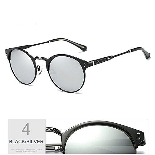 Gafas Uv400 Polarizadas Sol De Sol Gafas GRAY Aluminio Guía Hombre De De Gafas Proteger GUN Gris Plata TIANLIANG04 Negro Wq8f07nH7