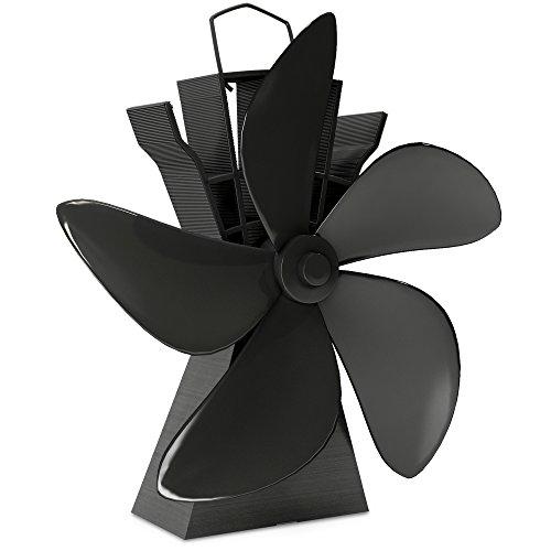 Wood Stove Heat Powered Fan – Powerful 5 Blades Fireplace Fan