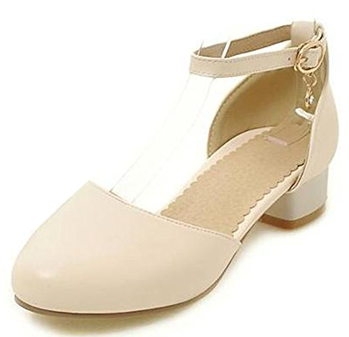 Easemax Baskets Classiques Chunky Femme Bas Cheville D-orsay Chaussures Chaussures Beige