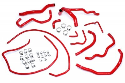 HPS 57-1512-RED Silicone Radiator and Heater Hose Kit Coolant