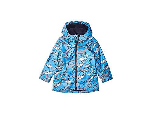 Joules Kids Baby Boy's Skipper Raincoat (Toddler/Little Kids/Big Kids) Blue Sharks 4