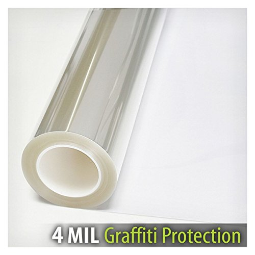 BDF AG4M Window Film Graffiti Protection 4 Mil Clear (24in X 14ft) by Buydecorativefilm (Image #2)