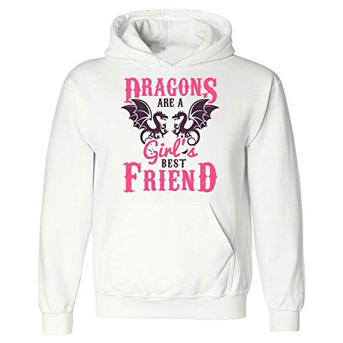 Hoodie Dragon - are Girl's Best Friend - Animal Themed Gifts White