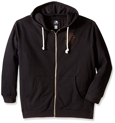 MLB San Francisco Giants Women's Plus Size Zip Hood with Logo, 2X, ()