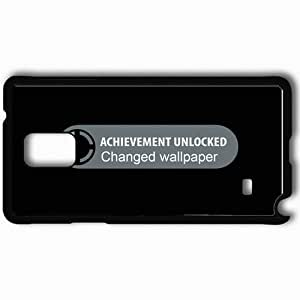 Personalized Samsung Note 4 Cell phone Case/Cover Skin Achievement Unlocked Black