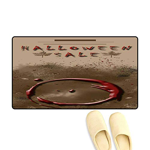 High Water Absorption Door mat Halloween Sale Festival Event Announcement Vertical Template in Spice Colors