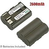 Canon Powershot BP-511 / BP511 / BP 511 Replacement Battery - 2 Pack