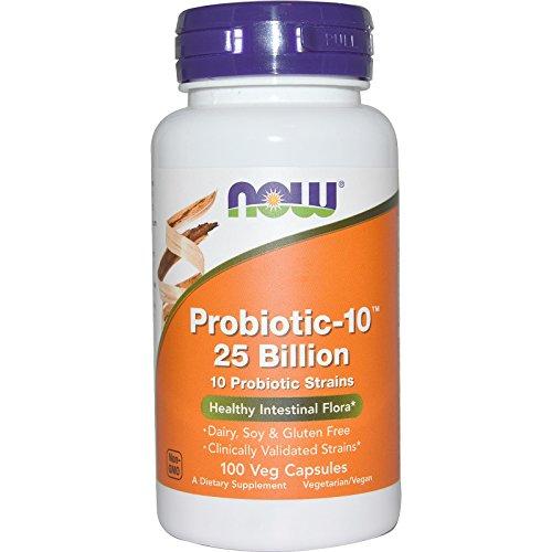 NOW Probiotic-10 25 Billion, 100 Veg Capsules