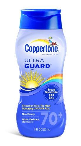 (Coppertone Ultraguard Sunscreen Lotion, SPF 70+, 8 Ounce Bottle by Coppertone)