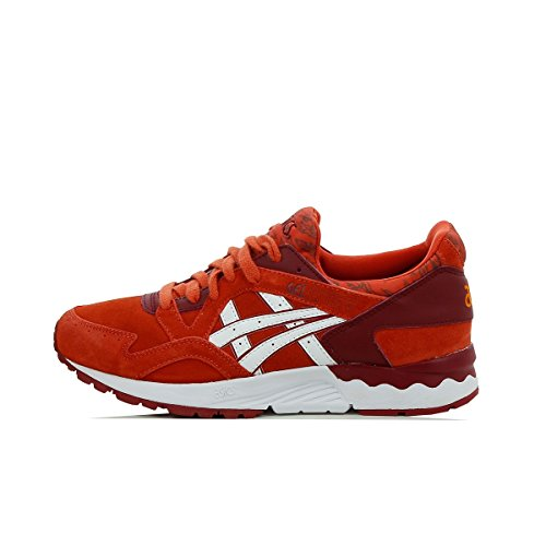 Leather Asics Junior Trainers Gs red Gel Lyte Suede V OwwPYHqF