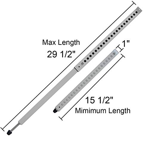 Jeacent Adjustable Window Security Bar, Patio Door Lock - Sturdy Steel, Extends from 15 1/2'' to 29 1/2'', White by Jeacent (Image #6)
