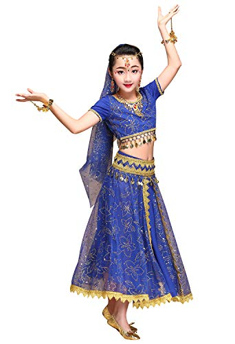 ORIDOOR Belly Dancing Costume Pleated Dress Set