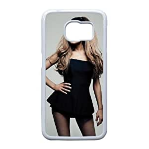 Popular And Durable Designed TPU Case With Ariana Grande_005 FOR Samsung Galaxy S6 Edge Cell Phone White Case