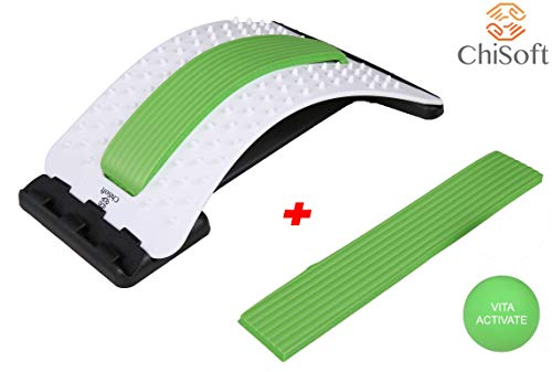 Best Arched Back Stretcher As Seen Doctors TV - CHISOFT (2nd Edition) Lumbar Stretching Device + Extra Cushion Foam + Trigger Point Massage Ball, Improve Posture, Sciatica Back Pain Relief by CHISOFT (Image #9)