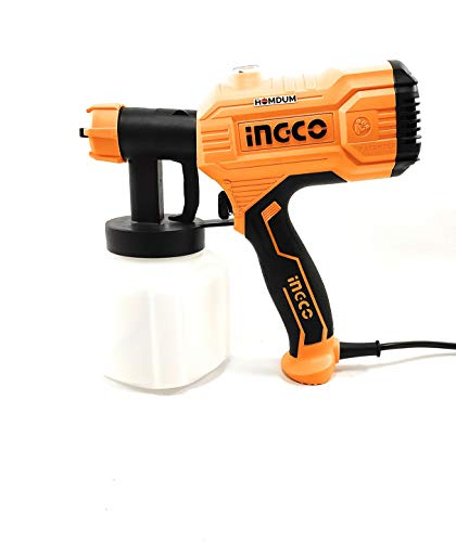 Electric HVLP Paint spray gun 450W -Ingco Portable Painting/Spraying Machine -Fast Air Painting Tool (Yellow) 2